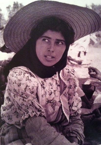 Migrant Worker Portugal 1955 Floral Shirt Straw Cartweel Hat
