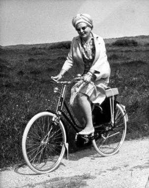 Queen Juliana 1967 Biking In Heels