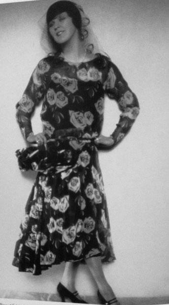 Rose Print Dress Margaret Bannerman 1930
