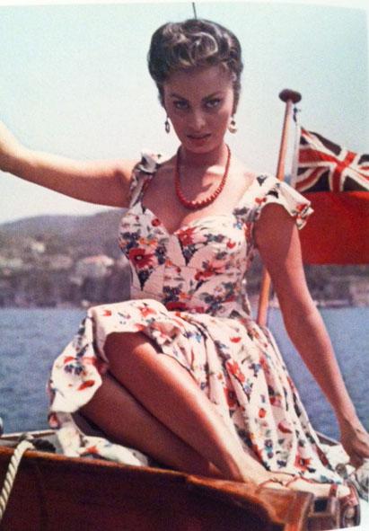 Sophia Loren Floral Dress 1965