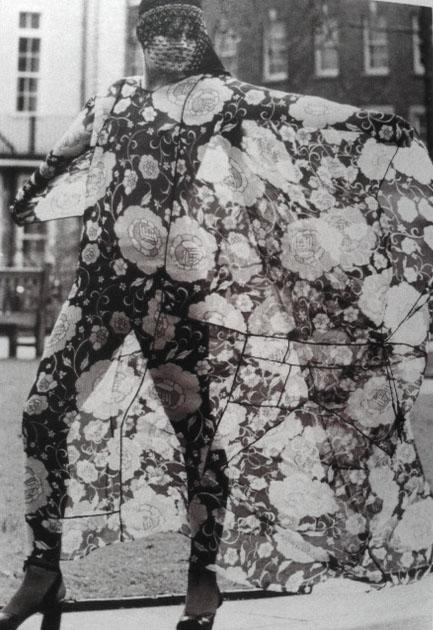 Thea Porter Silk Chiffon Floral Dress 1971 London