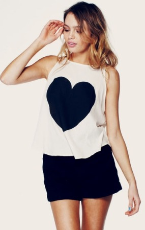 Wildfox Couture Big Heart Tank