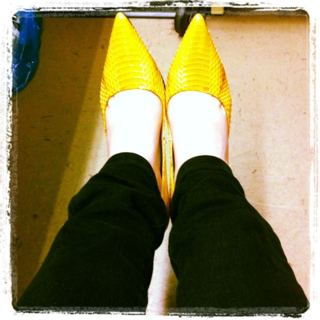 Yellow Shoes Lauren By Ralph Lauren