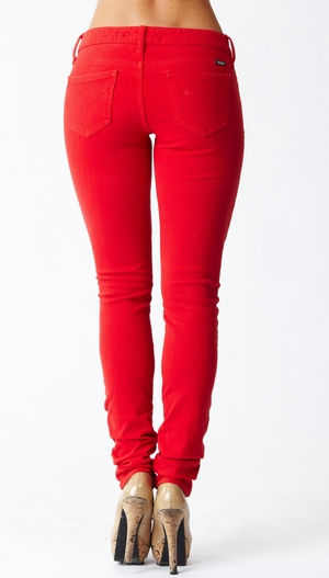 Reuse Jeans Red Skinny Recycled Cotton