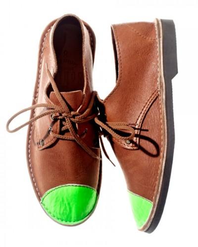 Schier Shoes Erongo Toe Cap Neon Green