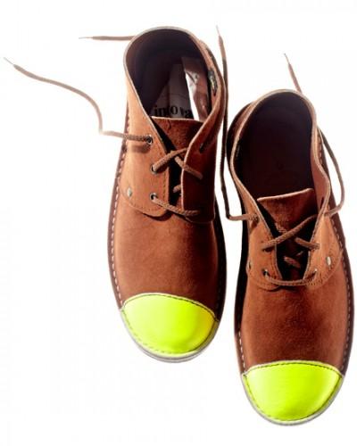 Schier Shoes Erongo Toe Cap Neon Yellow