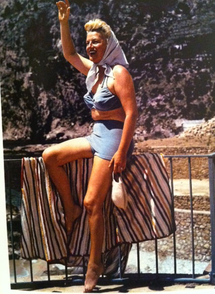 Bathing Suits Through The Decades Italy 1947 Gracie Fields
