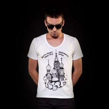 Heavy Eco Prison Fashion Mens Graphic Tattoo T-Shirt Russian Cathedral