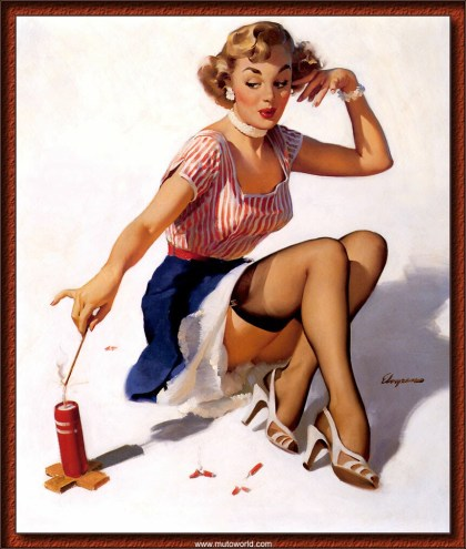 Pin Up Firecracker 4th Of July