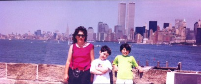 The Twin Towers From Statue Of Liberty Island