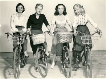 Jean Simmons Joan Fontaine Piper Laurie Sandra Dee Ride Bikes