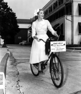 Grace Kelly Style Cycle Chic Riding Bike High Heels