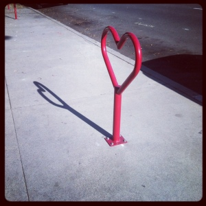 Red Heart Bicycle Parking Rack