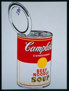Andy Warhol Big Campbells Soup Can