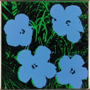 Andy Warhol Flowers Blue