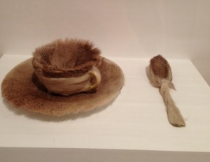 Meret Oppenheim 1936 Fur Covered Cup Saucer Spoon